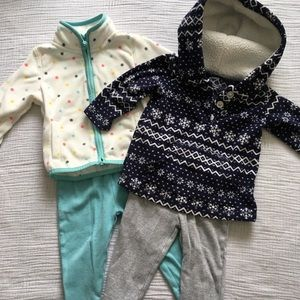 Carter's | 2 Micro-fleece Outfits